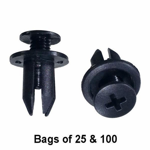 Honda / Mazda Trim Retainer Clips - Interchange: Auveco 14697 Dorman 700-589 47954 700589