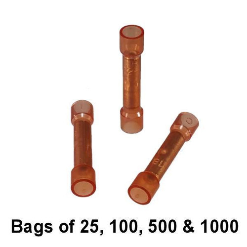 Red Nylon Butt Connector - USA Made - Bulk / Wholesale