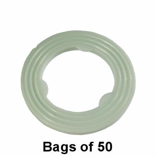 Oil Drain Plug Gasket - M14 Nylon Ribbed - Interchange: Dorman 097-010, 097-118, 097010, 097118, 69001
