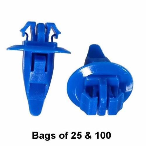 Blue Toyota Flare and Trim Retainer Clip - Interchange: Auveco 20390 Dorman 963-511 700-667 Toyota 9090467036