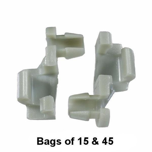 GM / Chrysler Door Lock Rod Clip - Interchange: Auveco 15674, GM 8891030, Chrysler 3454221, 4658677