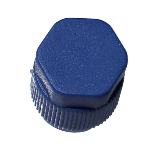 AC Service Cap Blue Low Side M9x1.0, Interchanges: MT0061, 59932