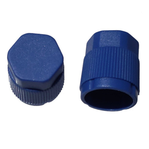 AC Service Port Cap Blue Low Side M9x1.0, Interchanges: MT0061, 59932