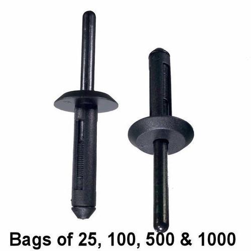 Nylon Rivet - 1/4 inch Hole Interchange: Auveco 13750, Dorman 700-593, 700-595