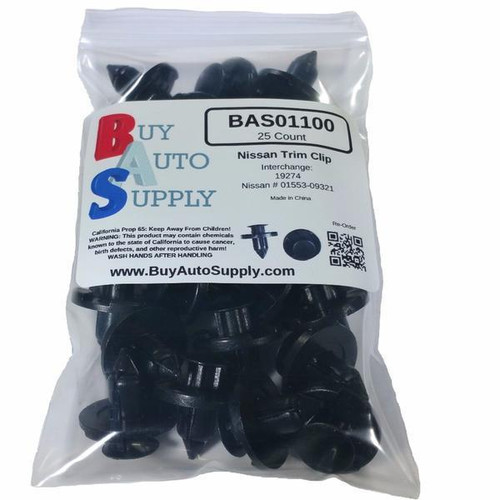 Bag of 25 Nissan Trim Push Retainer Clips
