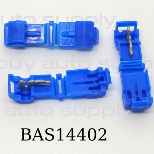 BAS14402 -USA Made- Blue T-Tap (16-14 AWG)
