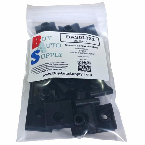 Bag of Nissan Nylon U-Nut Screw Anchor