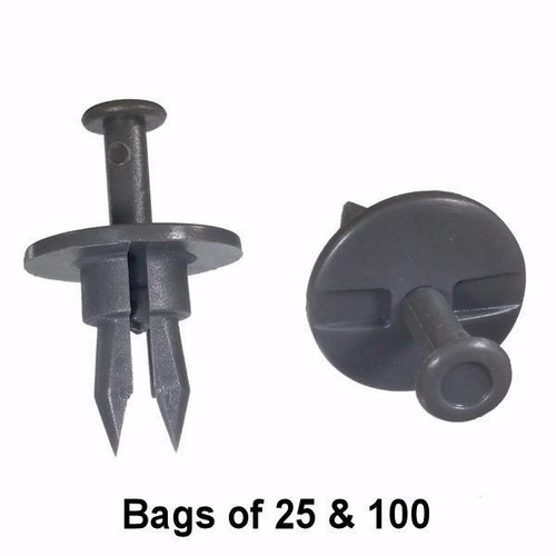GM Bumper Push Retainer Clips - Interchange: Auveco 12756, Dorman 700-571 700571, GM 5973996