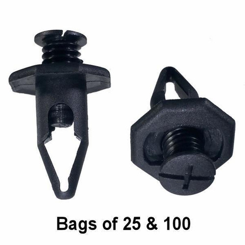 Honda / Acura Push Trim Retainer Clips - Interchange: Auveco 17144 Honda 91504-SM4-000
