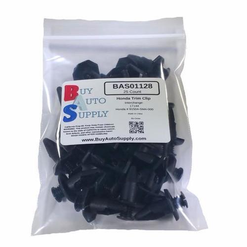 Bag of Honda / Acura Push Trim Retainer Clips - Interchanges: 91504-SM4-000