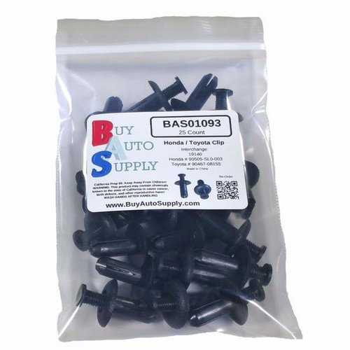 Bag of 25 Toyota / Acura / Mitsubishi Push Clips