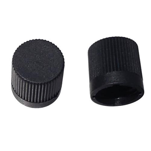 """R12 Black AC Service Valve Cap 1/4"""" - Interchangess: MT0060"""