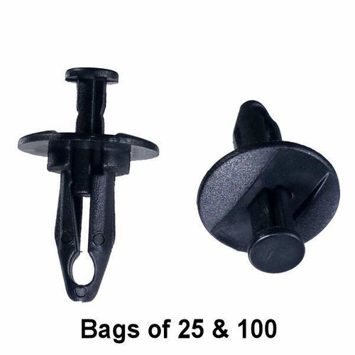 GM Bumper Push Retainer Clips - Interchange: Auveco 16624 GM 1636632 20687704