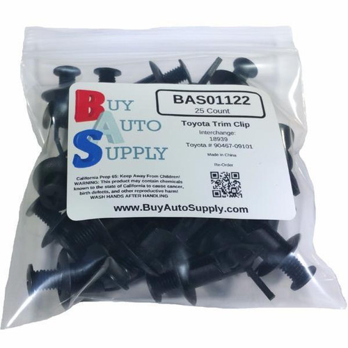 Bag of 25 Toyota / Lexus Bumper Push Retainer Clips