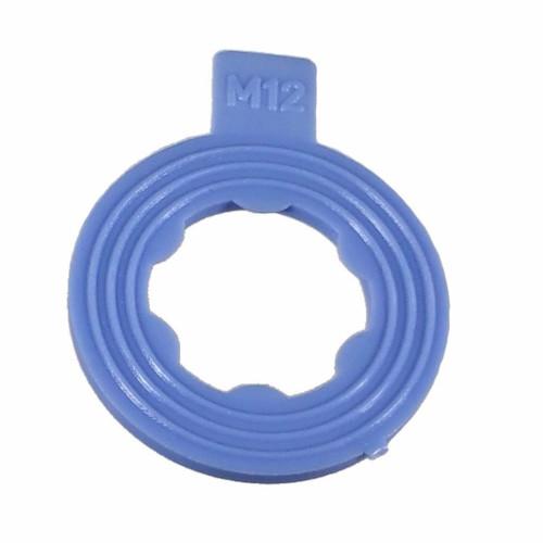 Blue Nylon Drain Plug Gasket M12 - BAS03550 - Interchange: 097116, 66301, 66302, 097117