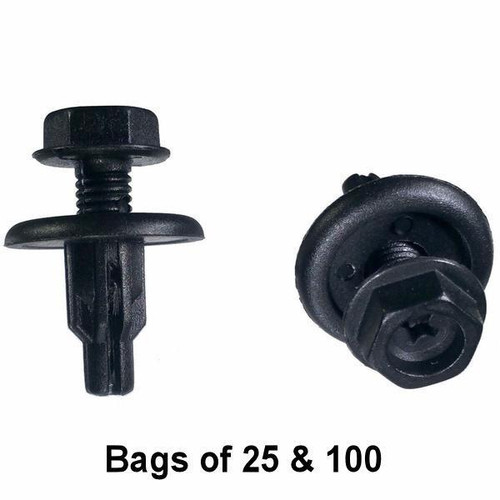 Honda Splash Shield Retainer Clips - Interchange: Auveco 17350 Dorman 963-620 Honda 91516-SK7-013