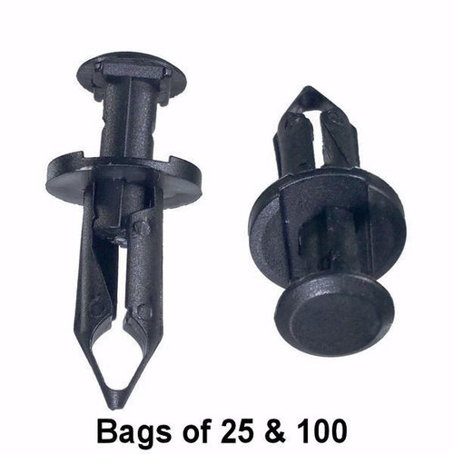Ford / GM / Honda Push Retainer Clips - Interchange: Auveco 17222 GM 21075686 Ford F3LY14570B
