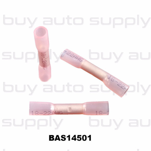 Butt Connectors - Red Heat Shrink - 22-18 wire - BAS14501