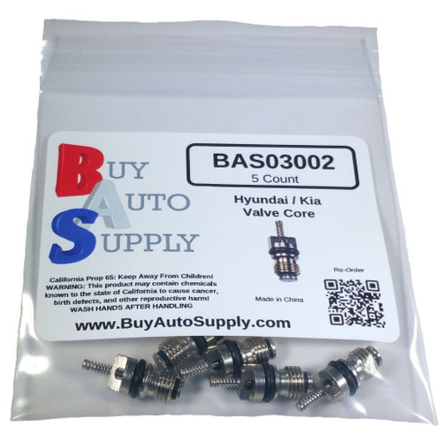 Bag of 5 Hyundai, Kia AC Valve Core R134A - Interchanges: 978122230
