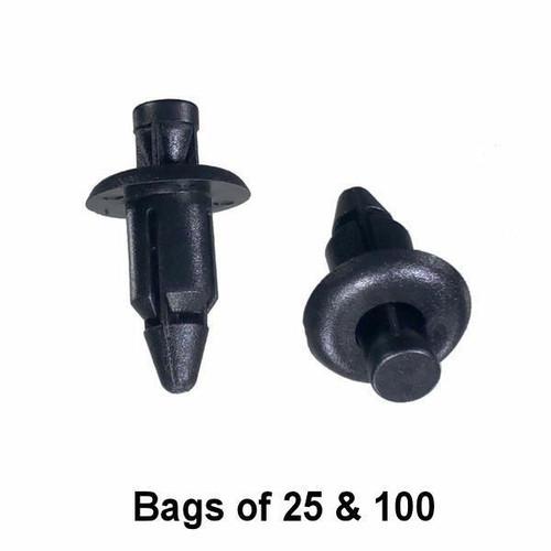Nissan / Honda Trim Push Retainer Clips - Interchange: Auveco 16783 Honda 90116-675-003ZA Nissan 66824-01G00