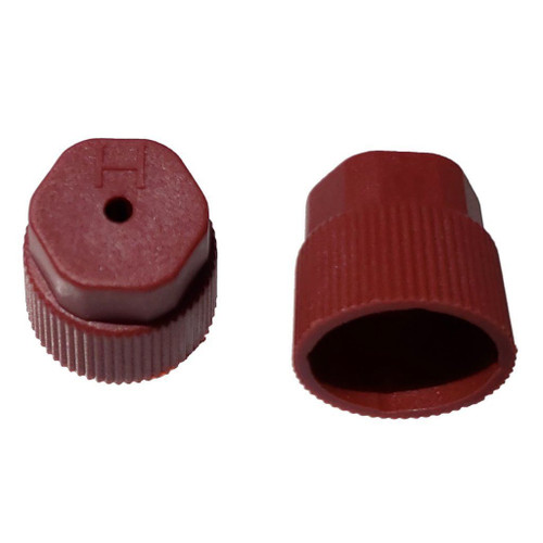 AC Service Port Cap R134a - Red High Side M8x1.0 - Interchanges: MT0069, 59988