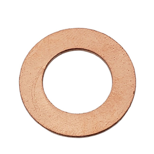 M14 Copper Drain Plug Gasket - Interchanges: Dorman 095-010, GM 94000374, Chrysler J4200173, Ford 3C3E-6734-AA, F6DZ-6734-AA, Mercedes 007603014106