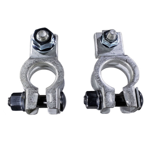 Replacement Battery Terminals with Nuts, Positive and Negative for Chrysler products. Interchanges: Positive 5161305AA, Negative 5161306AA