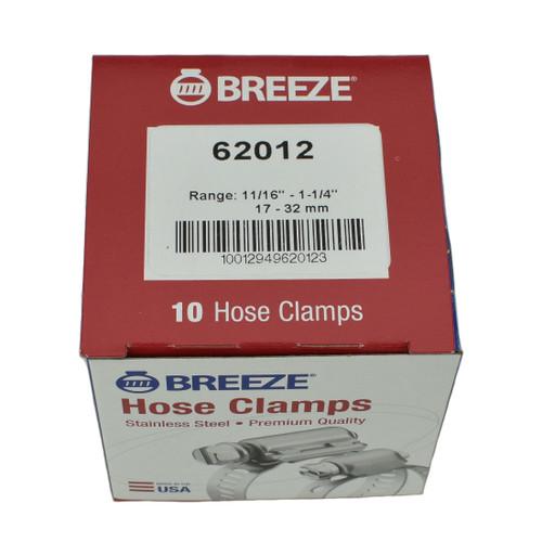 """#12 Hose Clamp - 11/16"""" to 1-1/4"""" (62012)"""