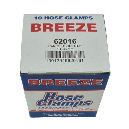 """#16 Hose Clamp - 13/16"""" to 1-1/2"""" (62016)"""
