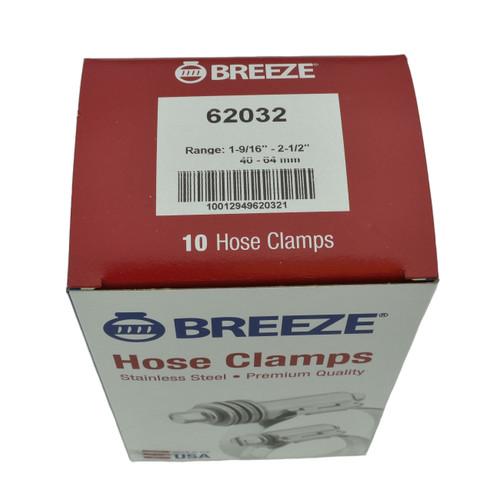 """#32 Hose Clamp - 1-9/16"""" to 2-1/2"""" (62032)"""