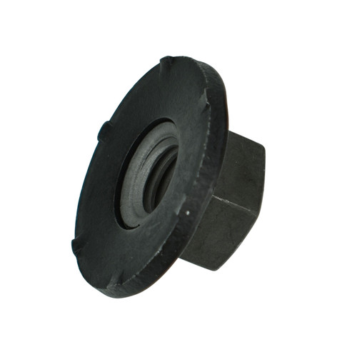 Black Hex Nut - 8-1.25 - 13mm Hex Head - 24mm Free Spinning Washer