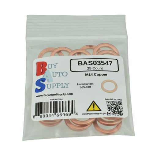 BAS03547 - M14 Copper Drain Plug Gasket