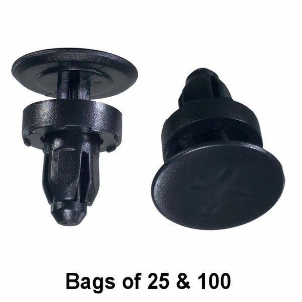 Honda Cowl Panel Push Retainer Clips - Interchange: Auveco 18165 Honda 91508-SR3-000