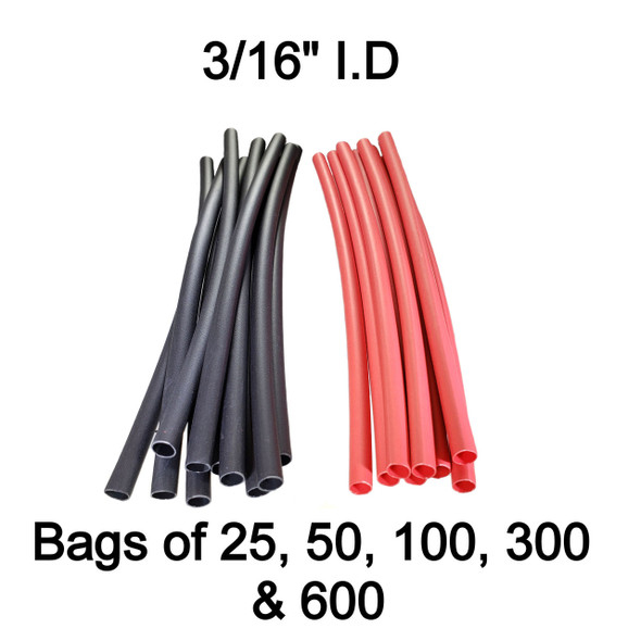 "BAS13801 - 3/16"" 3:1 Dual Wall Adhesive Lined Heat Shrink Tube"