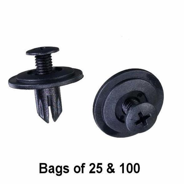 Honda Trim Push Retainer Clip - Interchange: Auveco 14698 Honda 90688SB0013, 90688SB0003