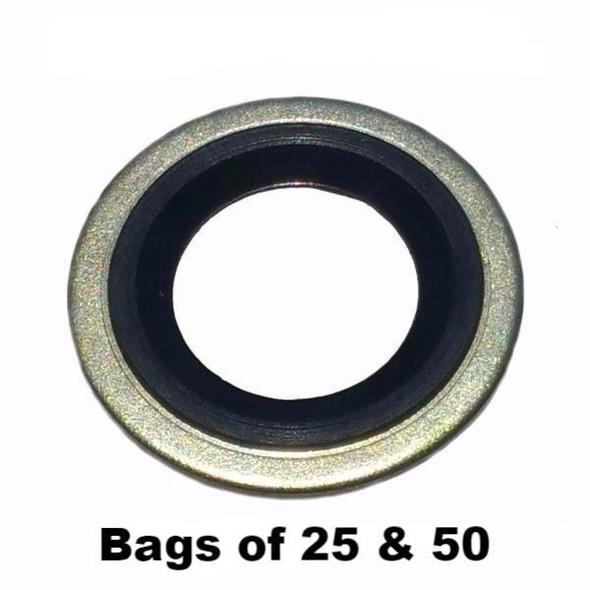 Metal Rubber Oil Drain Plug Gasket M14 - Interchange: Dorman 097-025, 65269, 097025