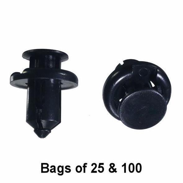 Honda Bullet Push Retainer Clips - Interchange: Auveco 19233 Dorman 700-627 700-080