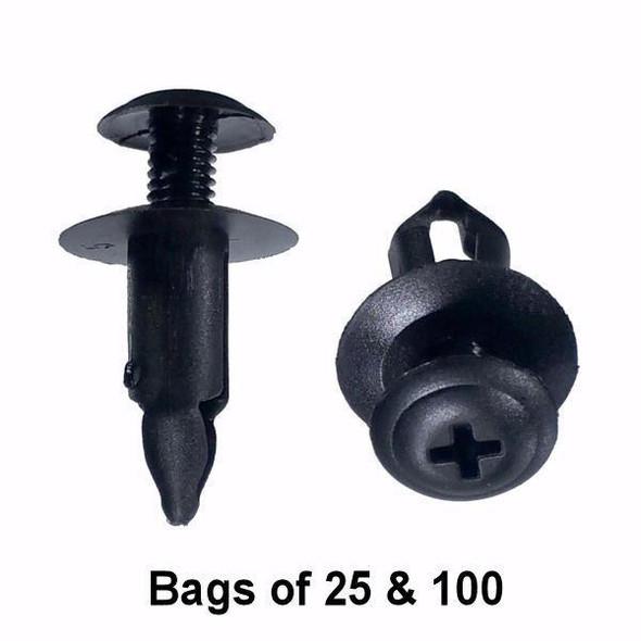 Nissan Push Retainer Clips - Interchange: Auveco 16859 Nissan 6686001W01