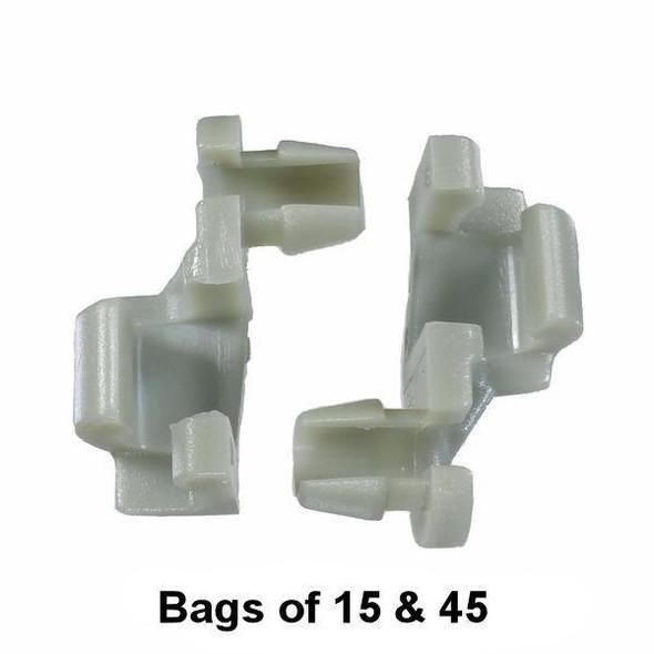 GM / Chrysler Door Lock Rod Clip - Interchange: Auveco 15674, GM 8891030, Chrysler 3454221, 4658677