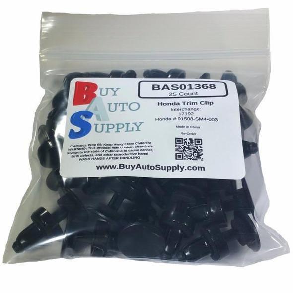 Bag of 25 Honda Trim Retainer Clip - Interchange: Honda 91508SM4003