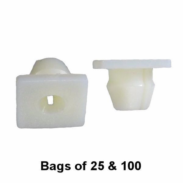 GM Nylon Nut - Screw Grommet - Fits 5/16 Round Hole - Interchange: Auveco 13960 GM 14013246