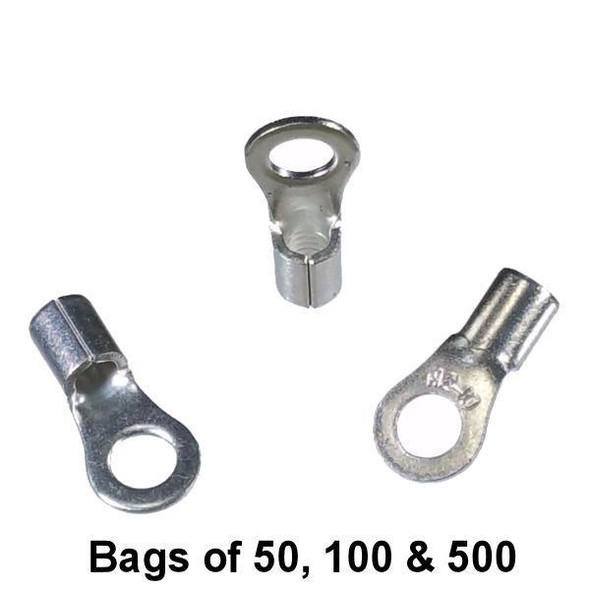 Non Insulated Ring Terminal (#10 Stud) 12-10