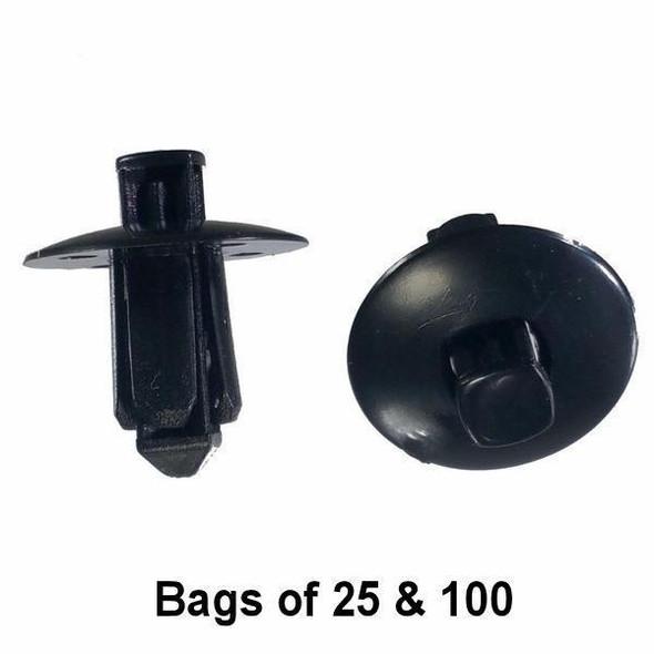 Nissan / Infinity Bumper Cover Push Retainer Clips - Interchange: Auveco 17347 Nissan 01553-06721
