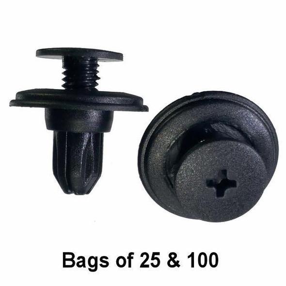 Nissan Bumper Retainer Clips - Interchange: Auveco 17378 Nissan 01553-03101