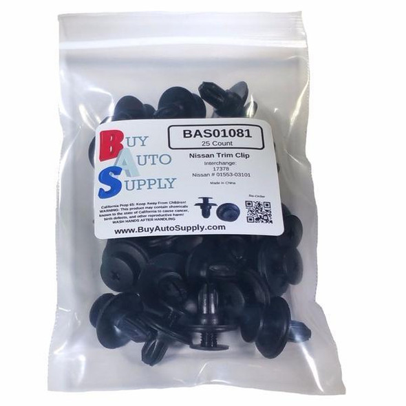 Bag of 25 Nissan Bumper Retainer Clips