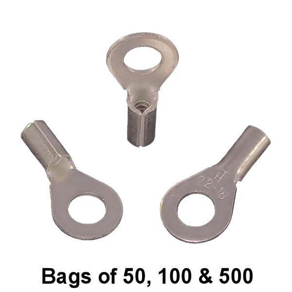 Non Insulated Ring Terminal (#8 Stud) 22-18