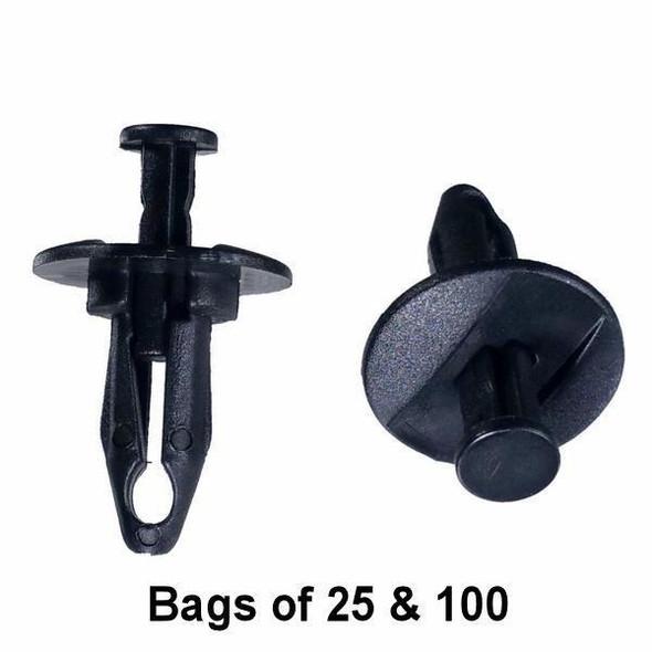 GM Bumper Push Retainer Clips - Interchange: Auveco 16624 GM 1636632 20687704