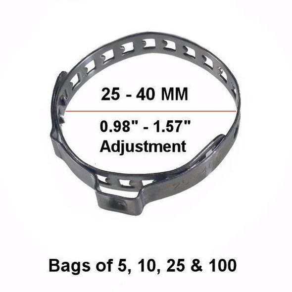 CV Boot Clamp Stainless Steel - Universal - Fits 25-40MM