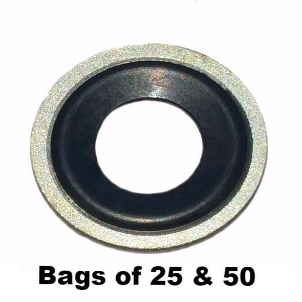 Metal Rubber Oil Drain Plug Gasket M12 Interchange Dorman 097-021 65274 097021
