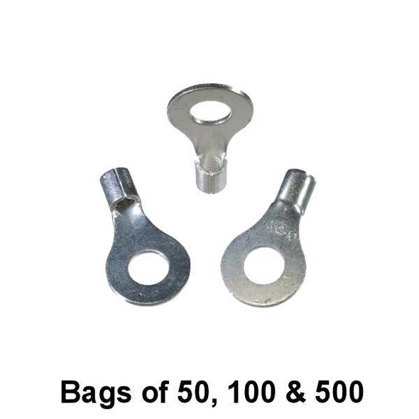 """Non Insulated Ring Terminal (1/4"""" Stud) 12-10"""